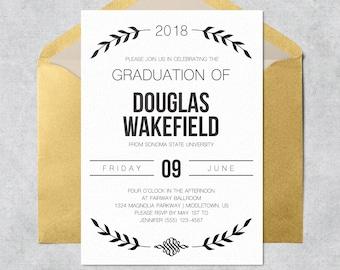 graduation invitation instant download etsy
