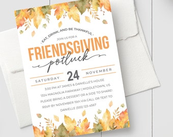 friendsgiving invitation etsy