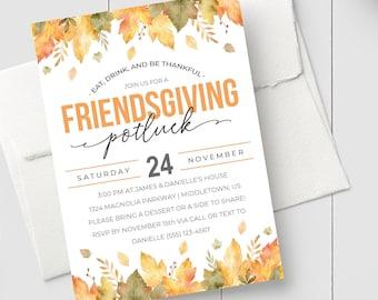 friendsgiving invite etsy