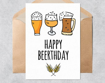 Printable Beer Card