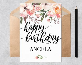 Printable Personalized Birthday Card