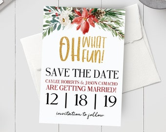 christmas save date etsy