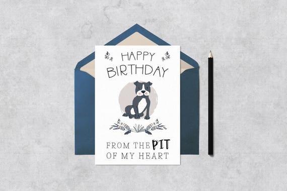 Printable Birthday Card Print At Home Dog Birthday Card Etsy