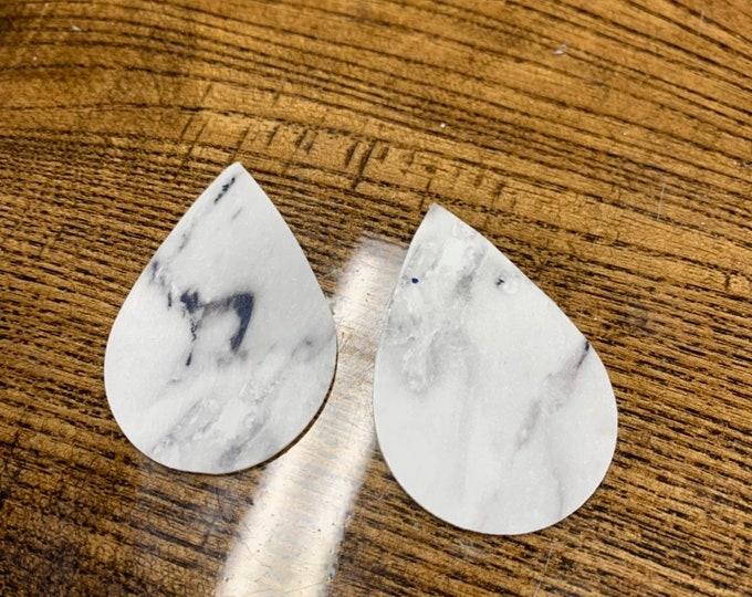 Marble Print Leather Alternative, Faux Leather, Vinyl Teardrops