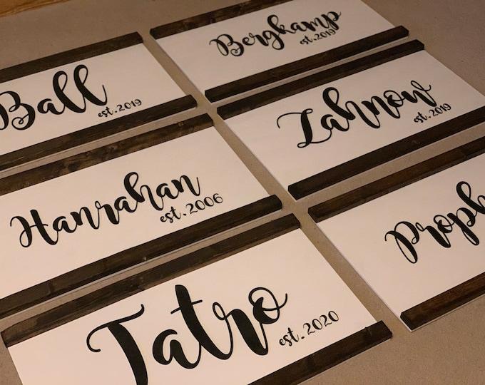 Custom Family Last Name Wood Sign 3D Laser Cut Personalized Custom Family Name Wood Sign