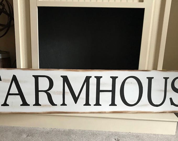 Farmhouse 60 inches Long Rustic Country Fixer Upper Style Farm House Wood Sign