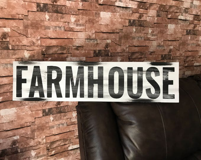 Farmhouse Rustic Country Fixer Upper Style Farm House Wood Sign 30 inches long!