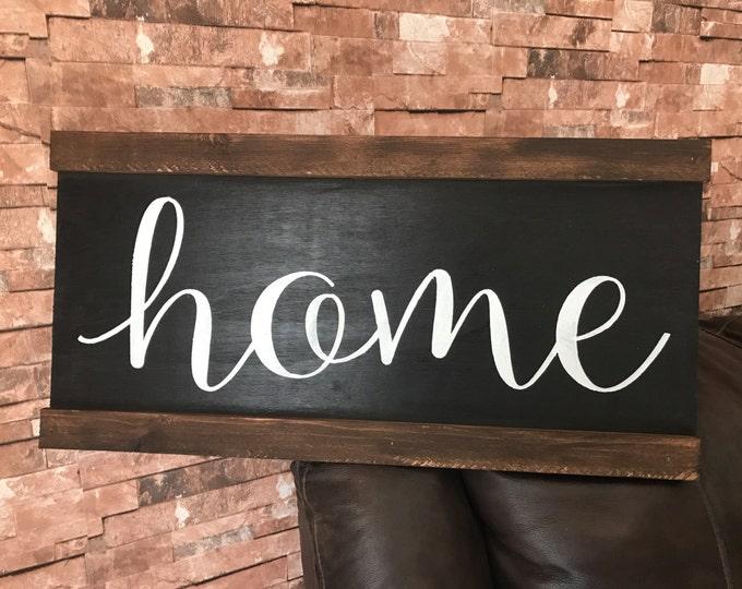 Rustic Home Framed Fixer Upper Wood Sign