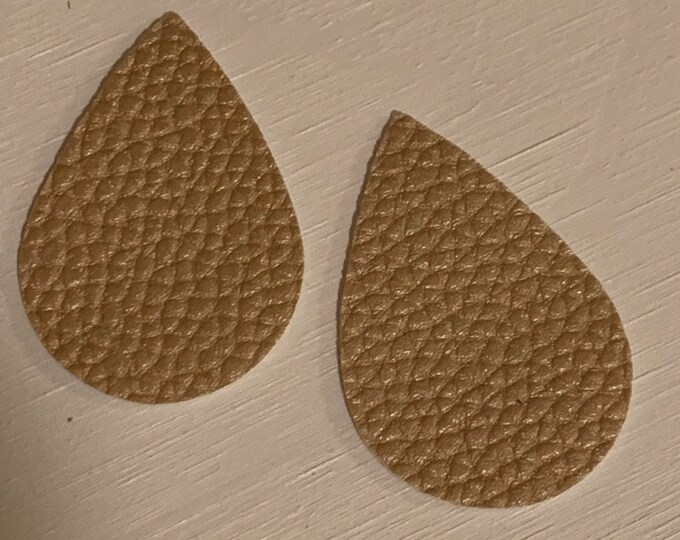 Gold Shimmer Leather Alternative, Faux Leather, Teardrops For Earring Making