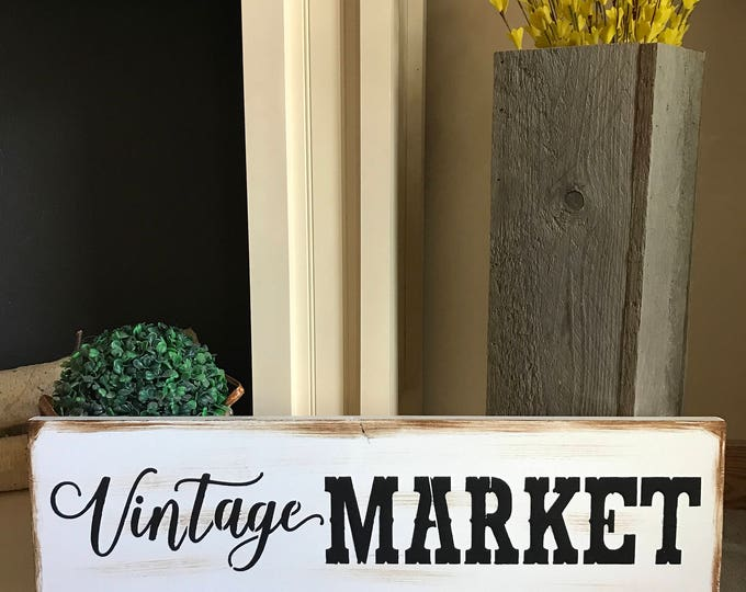 Vintage Market Farmhouse Decor  Rustic Country Fixer Upper Style Farm House Wood Sign 24 inches long!