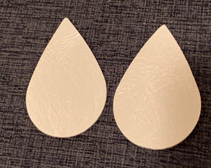 Pearl Leather Alternative, Faux Leather, Teardrops For Earring Making