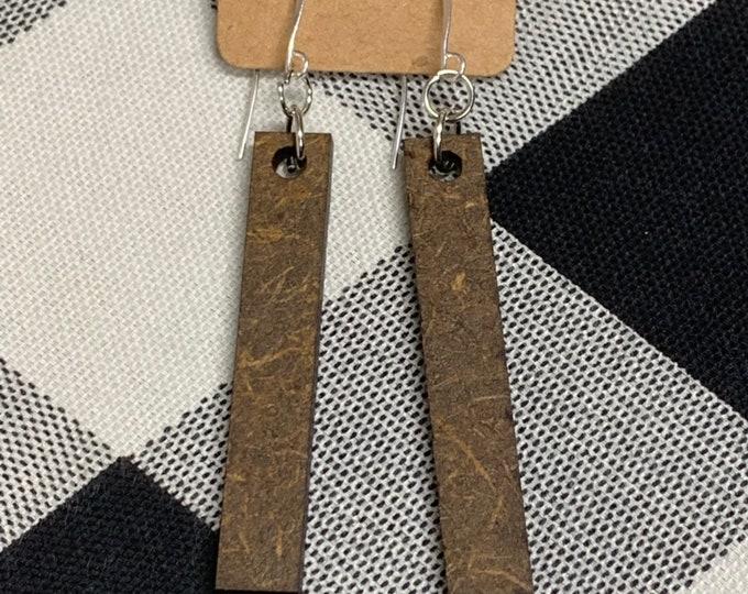 Laser Cut Wood Earrings Bar Geometric Earrings Wooden Boho