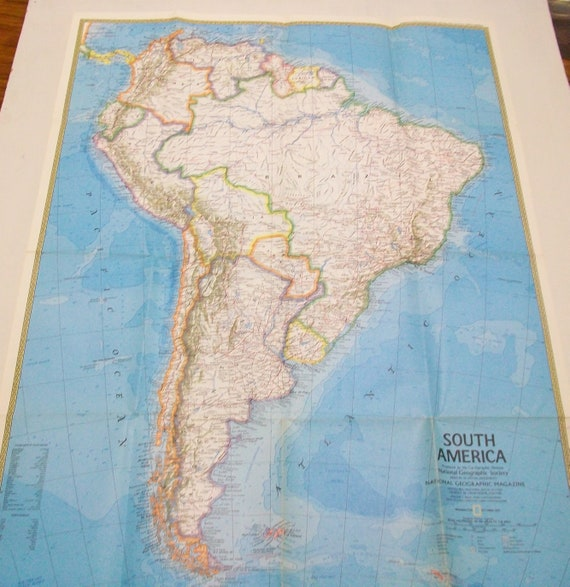 Vintage South America Map, National Geographic Map, South American on geographic map of modern europe, geographic map of netherlands, geographic map of guadalajara, geographic map of denmark, geographic map of lebanon, geographic map of czech republic, geographic map of san salvador, geographic map of pacific ocean, geographic map of new york state, geographic map of belize, geographic map of serbia, geographic map of arab countries, geographic map of hong kong, geographic map of the caribbean, geographic map of scandinavia, geographic map of far east, geographic map of ghana, geographic map of bahrain, geographic map of japan, geographic map of gobi desert,