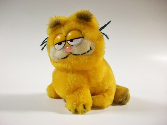 Garfield Stuffed Animal Vintage Garfield Animal Plush Etsy
