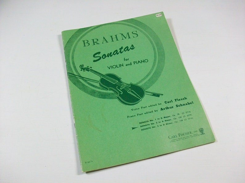 Brahms Sonatas Op 100 #2 in A Major Sheet Music Book, Vintage Johannes  Brahms Sheet Music Notes for Violin & Piano, Classical Sheet Music