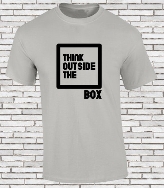 Think Outside The Box Frases Motivacionales Serigrafía Sobre Algodón
