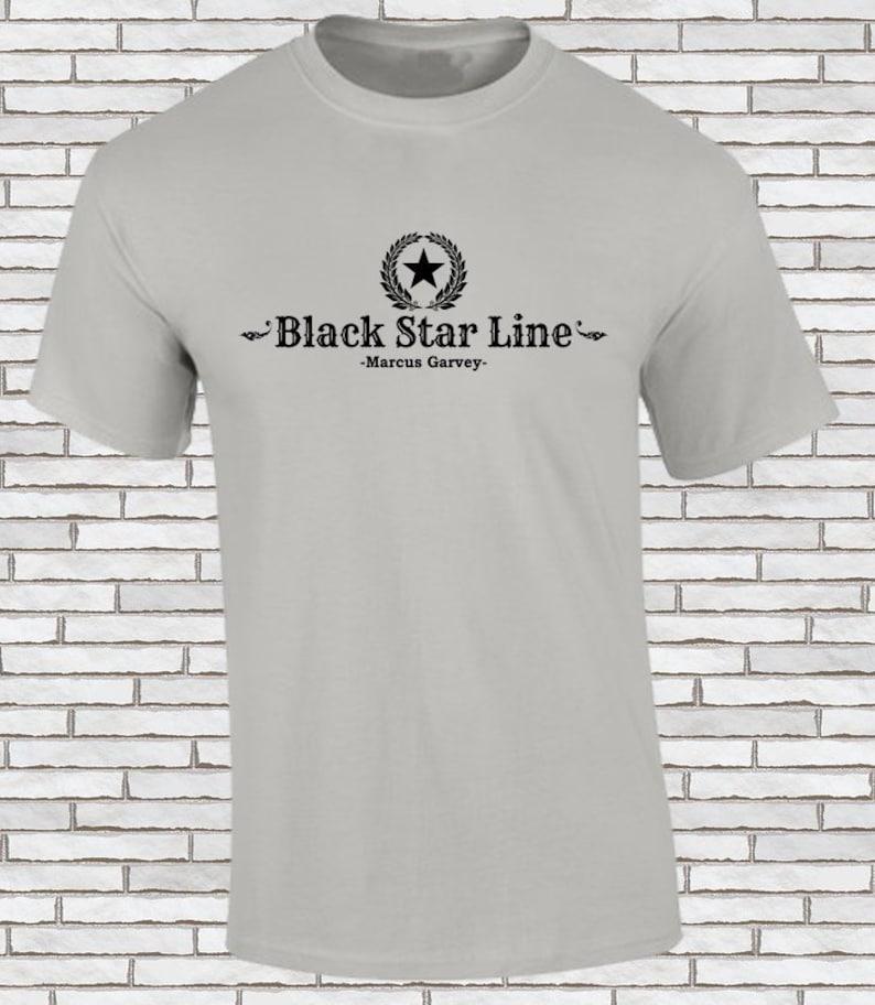 Rasta T-Shirt Crew Neck Rastafarian Stars on Chest Short Sleeves