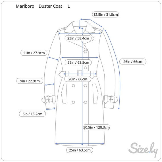 Vintage Marlboro Gear Mens Trench Coat Duster Oli… - image 10