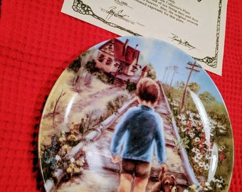 """Rusty Money second edition """"Home by lunch""""a new from the box a collector plate."""