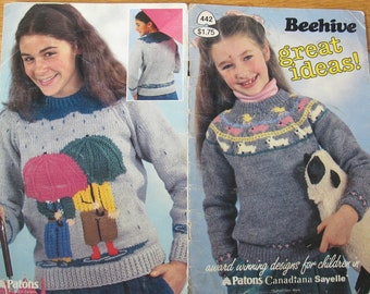 Beehive Great Ideas / Beehive 442 / children's knitting design patterns / Vest knitting pattern / pullover knitting patterns