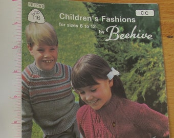 Children's Fashions for Sizes 6 to 12 by Beehive / Beehive 116 / Childrens knitting patterns