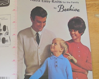 Astra Easy Knits for the Family by Beehive / Beehive 105 / Cardigan knitting patterns / pullover knitting patterns