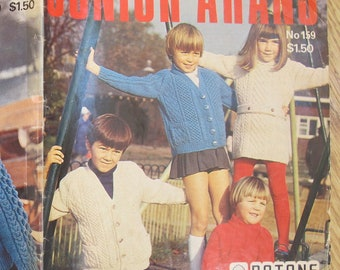 Patons Junior Arans No. 159 / Patons Arans / Children's knitting patterns