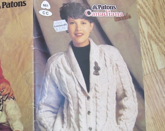 3f0930187073a1 Patons Canadiana Tweed   Patons 661   Beehive Book 661   Cardigan sweater  knitting patterns