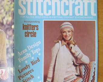 Stitchcraft Magazine 507 March 1976 / Knitting Crochet and homemaking magazine / retro 1970's knitting patterns