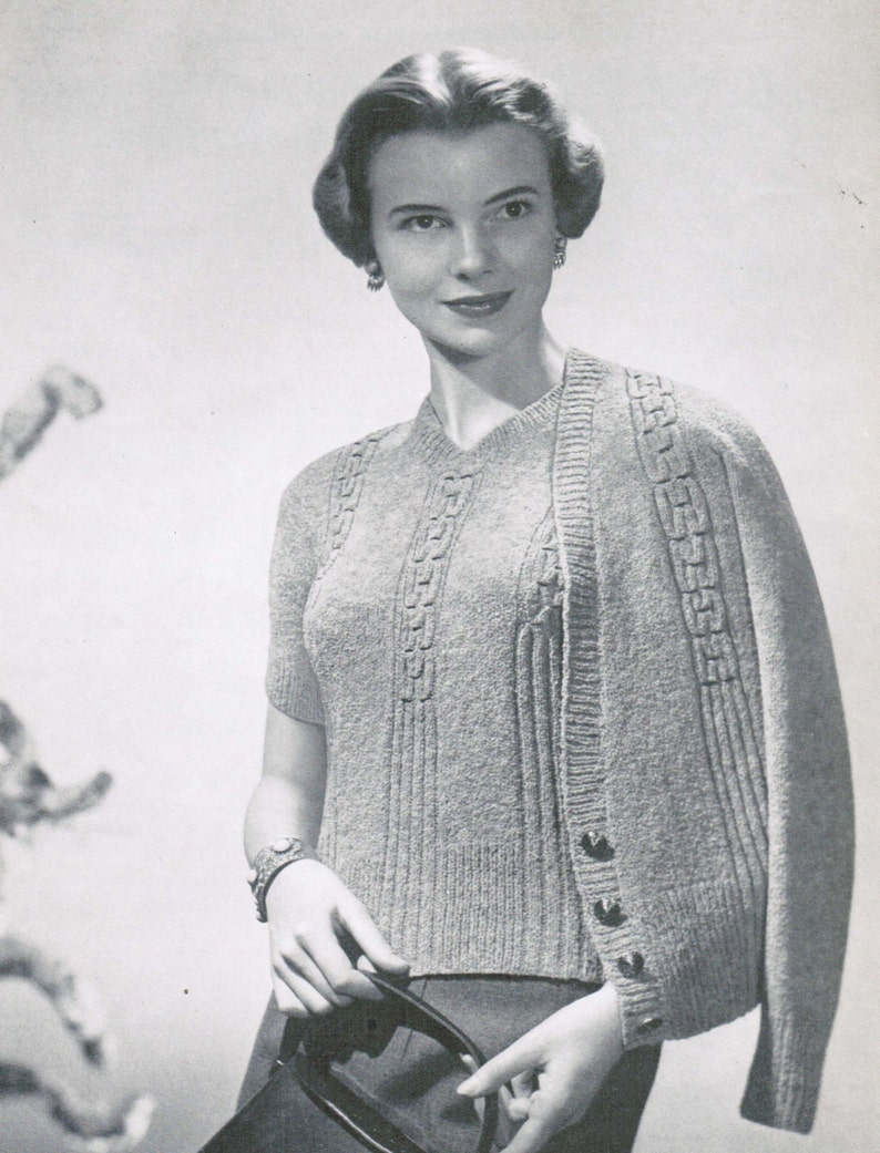 Classic Smocked Cardigan And Pullover Pattern Pdf Mad Men Etsy