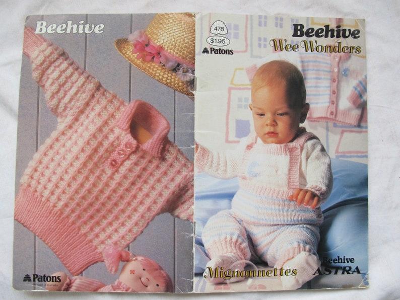 Beehive Wee Wonders Patons 478 Baby Knitting Patterns Etsy