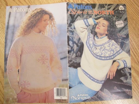 6550de0c294d6e Patons Spirit of the North   Beehive Book no. 650   Sweater
