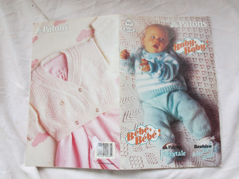 Patons Baby Baby Patons 612 Baby Knitting Patterns Etsy