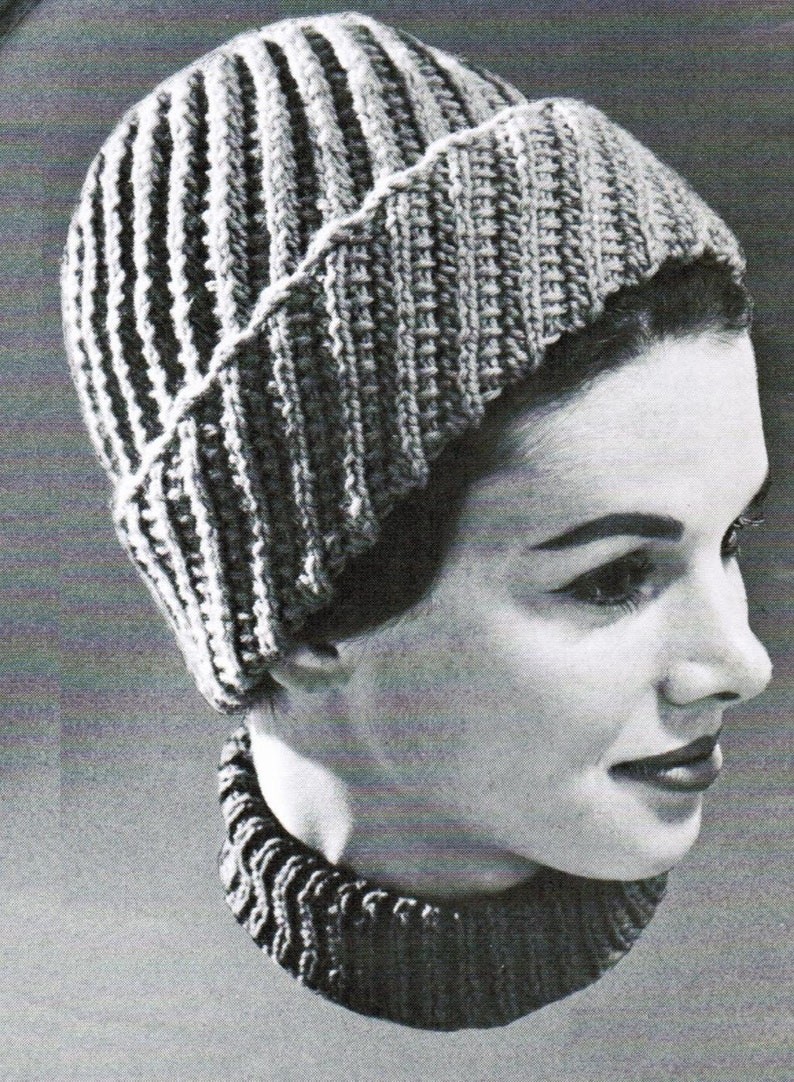8ba91844d78 Knitted Spiral Lace Toque PDF Pattern   Womans girls children