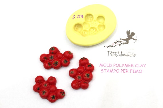 Flower Rosa Mold-Silicone Mold-Dollhouse Miniatures-Polymer Clay Mold-Fimo Mold-Jewelry Molds-Silicone Molds-Mold Fimo-Mold Resin-ST000