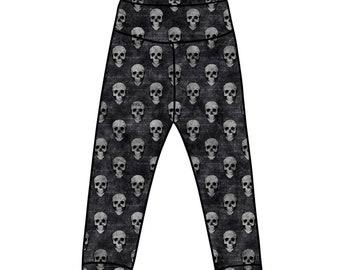Organic baby leggings Unisex kids clothes Goth deer Moon print Gothic kids leggings Sparkly leggings
