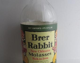 1950s Brer Rabbit Molasses Bottle