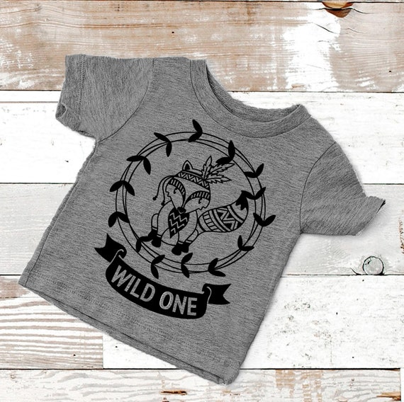 Wild One Birthday Shirt First