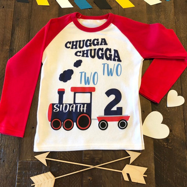 c67128fedb11b 2nd Birthday Shirt Chugga Chugga Two Two Boys Toddler Birthday | Etsy