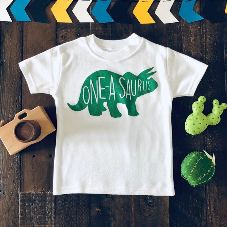 Oneasaurus Birthday Shirt One Year Old Dino 1