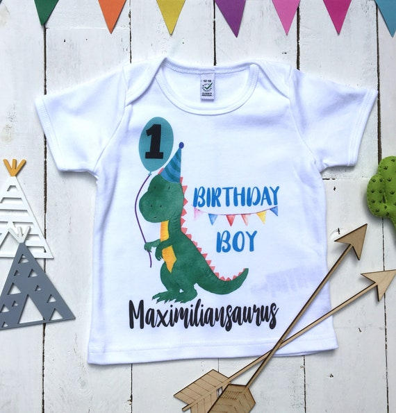 Oneasaurus Birthday Shirt One Year Old Dino Boy 1