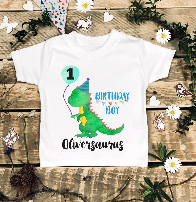 Dinosaur 1st Birthday Family Shirts