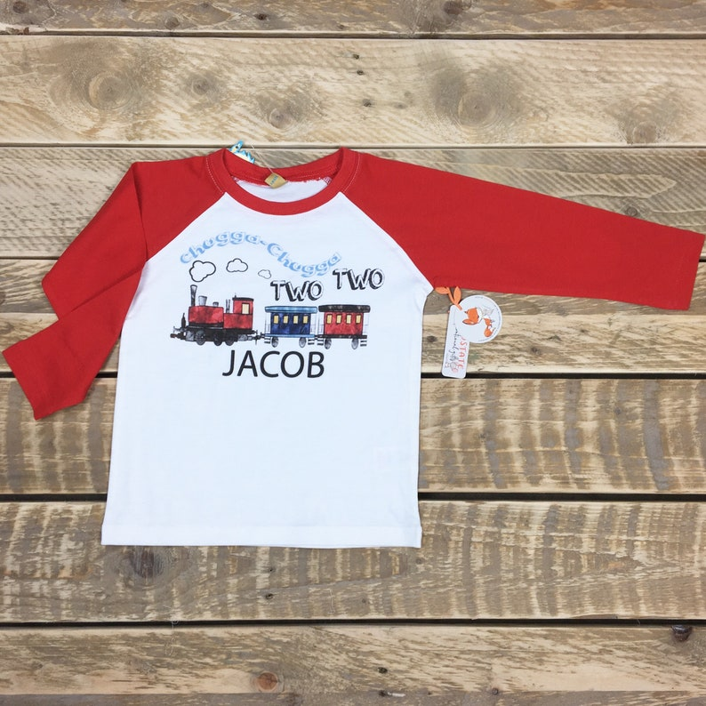 3cb513e7 Chugga Chugga Two Two Boys 2nd Birthday Shirt Toddler Birthday | Etsy