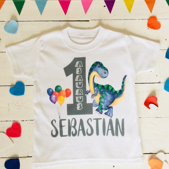 Oneasaurus Birthday Shirt Dino One Year Old