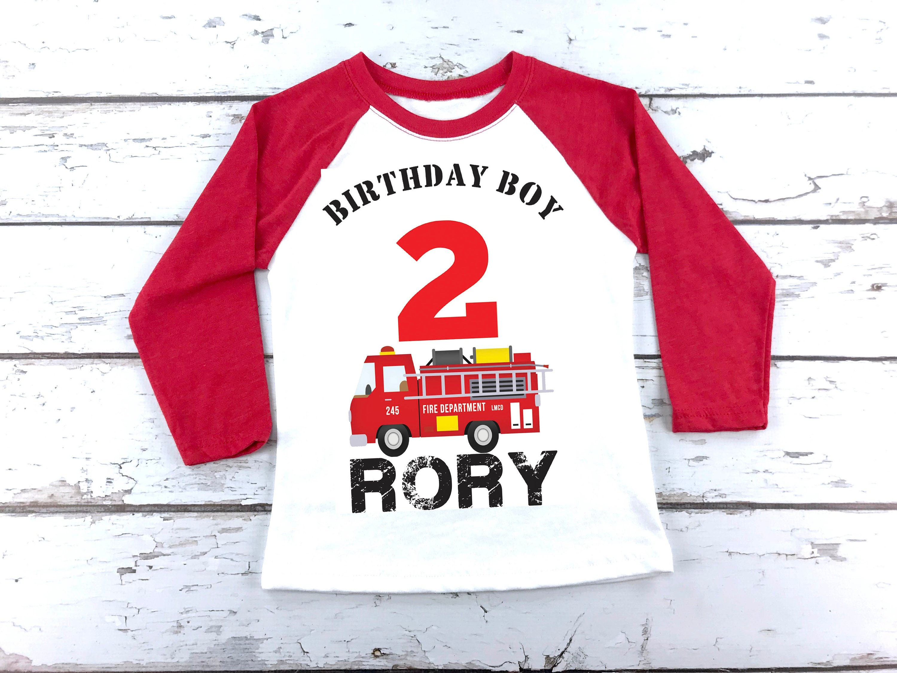 Second 2nd Personalised Birthday Boys Tshirt Top Outfit tee