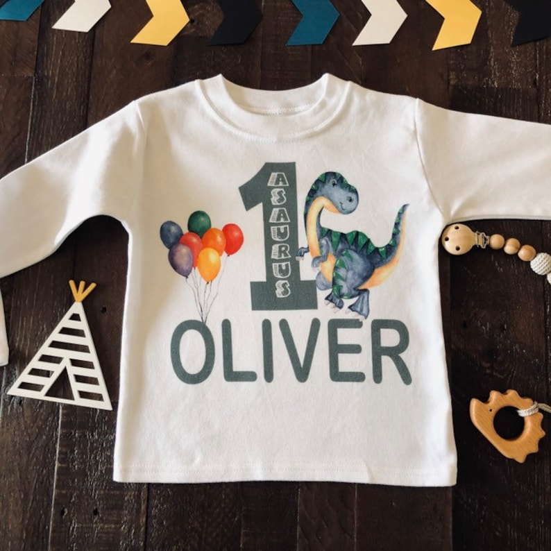 Oneasaurus Birthday Shirt Dino One Year Old 1