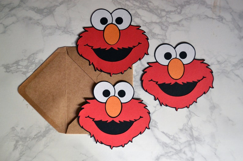 Elmo Birthday Party Invitations Customized Set Of 12