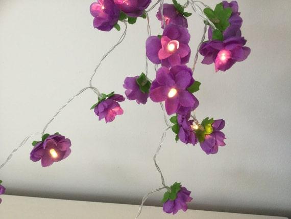 Purple rose fairy lights flower string lights rose lights etsy image 0 mightylinksfo