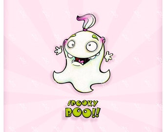 "Digi stamp set ""spooky boo ghost"""