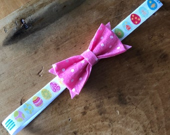 Easter Headband, Childrens Headband, Easter eggs, Easter Hairbow, Baby Bows
